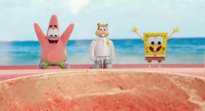 Patrick, Sandy and Spongebob