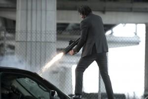 John Wick stopping traffic