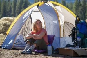 Cheryl in her tent in Wild
